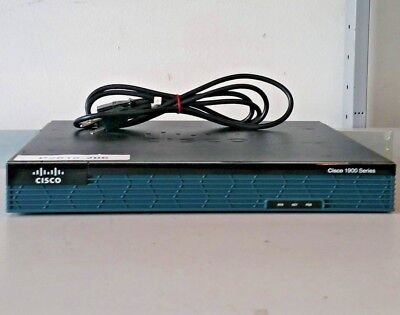 Cisco 1921 1000 Mbps 2-Port Gigabit Wireless Router (CISCO1921/K9) - w/Rack Ears