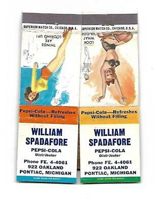 2 William Spadafore   Matchcovers  Pepsi-Cola Distributor   Pontiac, Michigan
