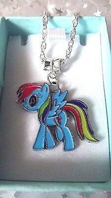 MY LITTLE PONY RAINBOW DASH , Size 3,4,5,6,7,8,9, Years ,Gift Boxed chain link