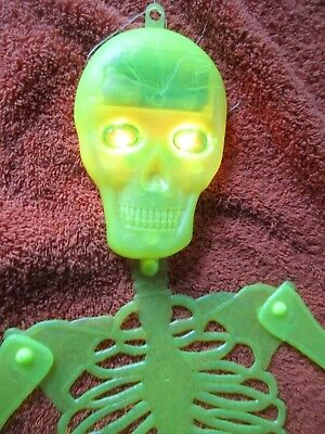 Collectible Halloween Blinking Eyes Skeleton Lights Holiday Decorations