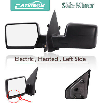 For   Ford F  Power Heated View Mirror W Led Signal Left