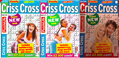 Family Criss Cross- 3 Book Set - 368 Puzzles - Brand New __ Freepost Uk
