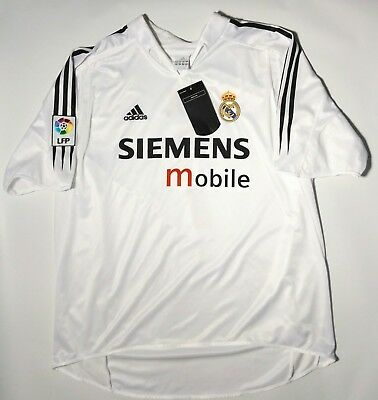 b58491207 Adidas Real Madrid Jersey Authentic Shirt Camiseta Spain Raul Soccer Mens XL