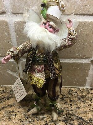 Mark Roberts Coffee Lover Fairy 2015 Small Nib Retired Gorgeous Detail