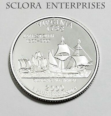 2000 S Virginia  *90% Silver Proof*  State Quarter   **free Shipping**