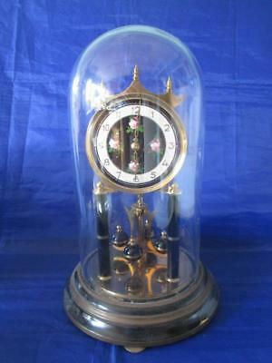 Vintage Koma Glass Domed, 400 Day Torsion Anniversary Clock