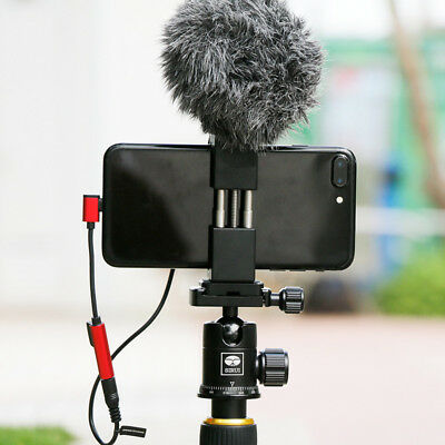 Metal Phone Tripod Mount Smartphone Holder Video Rig Tripod Mount Adapter ST-02S