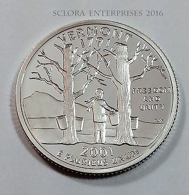 2001 S Vermont *90% Silver Proof*  State Quarter   **free Shipping**