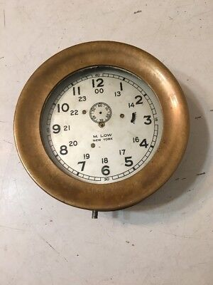 Unusual Rare M Low Waltham Ships Clock Case Parts Chelsea Seth Thomas Era
