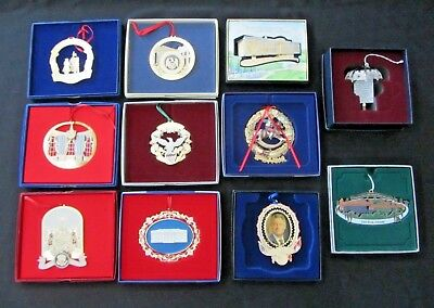 LOT of Eleven White House & Clinton Presidential Library Ornaments 1988-2010