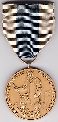 Us Byrd Antarctic  Expendition Medal 1930 Museum Grade Reproduction