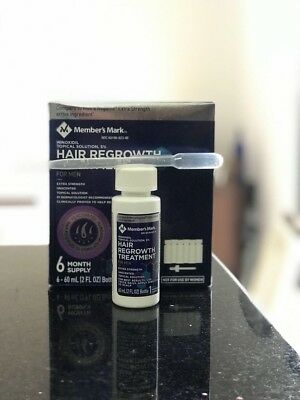 Members Mark Minoxidil Topical Solution 5% Hair & Beard Growth. 1 Month Supply.