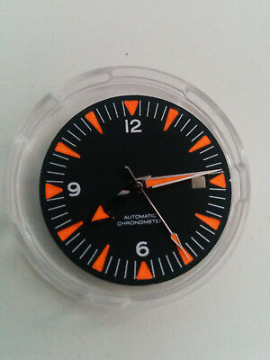 31mm ETA 2824, SW200 Zifferblatt Taucher Orange Lume, luminous dial diver