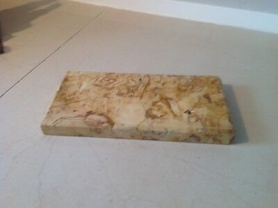 Nice Piece Of Yellow Marble Base Bevelled Edges.