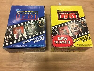 Vintage Topps Cards (1983) STAR WARS RETURN OF THE JEDI, Full Boxes SERIES 1 & 2
