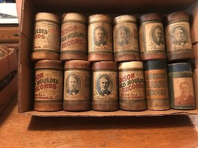 44 Edison Cylinder Record's in Original Boxes