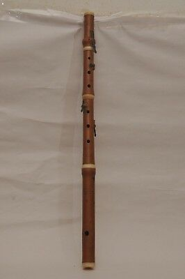 Antique 19Th C Hw Rede London Wood Flute Recorder Scarce Instrument
