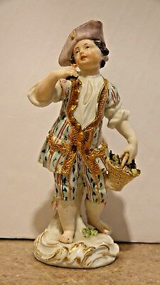 Meissen 250 Year Old 18th Century Circa 1764-1773 Adorable Boy Well Dressed