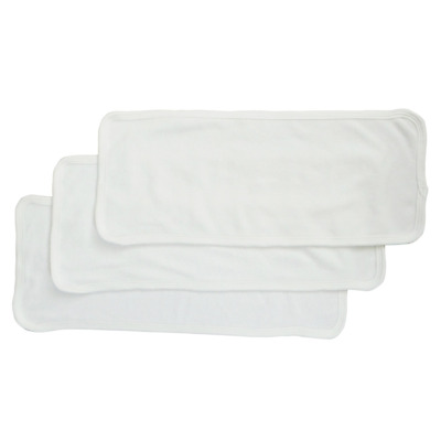 Bambini Baby Burpcloth With White Trim (Pack of 3)  - Made in USA