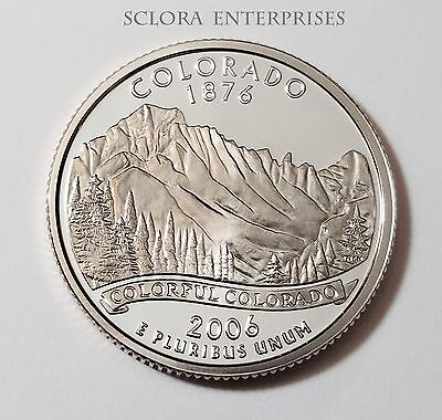 2006 S Colorado *90% Silver Proof* State Quarter   **free Shipping**