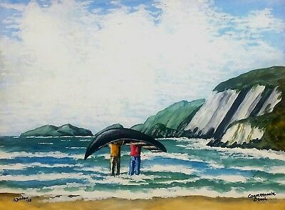 Original Irish Paintings,Irish Art,Coumeenoole Beach,Dingle,by Gerry Dillon.