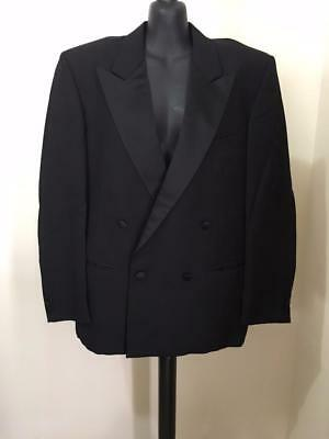 Mens Vintage Designer Louis Féraud Black Tie Dinner Suit Jacket Made in Italy