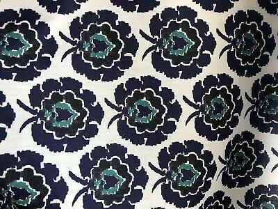Liberty Of London Navy And White Cotton Print 1m