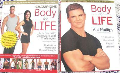 BODY FOR LIFE Bill Phillips 12 week program +  CHAMPIONS BODY FOR LIFE