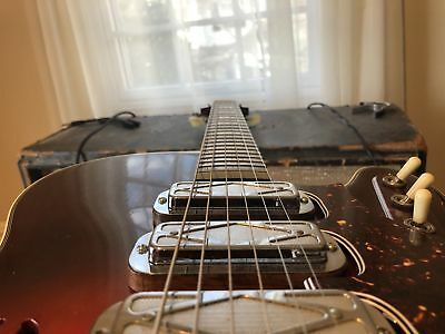 3 Vintage Dearmond Pick Ups With Wooden Spacers 60's
