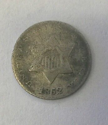 1852 3 cent silver