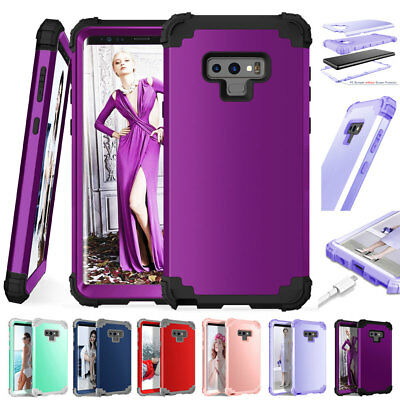 Rugged Rubber Hybrid Armor Case for SAMSUNG GALAXY Note9/S9 Plus Shockproof Case