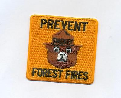 Smokey the bear embroidered patch Prevent forest fires. Vintage patch