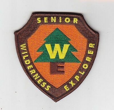 Wilderness Senior Explorer embroidered patch, 3.5 inch wildlife nature outdoor