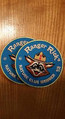 Ranger Rick Nature Club Member embroidered patch, 3 inches. iron on,