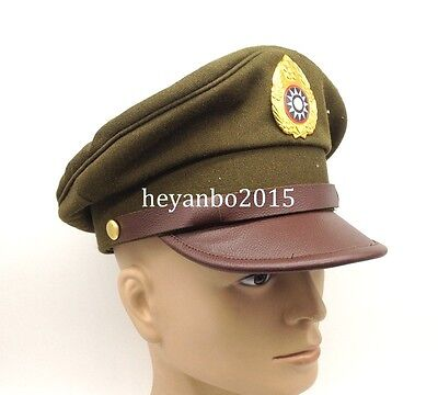 Ww2 Chinese Nationalist Forces Kmt Kuimingtang Army Service Cap -Size L