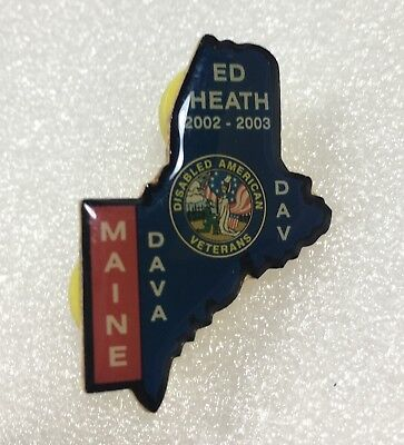Maine Ed Heath 2002-03 Dav Lapel Hat Collectible Pin Disabled American Veterans