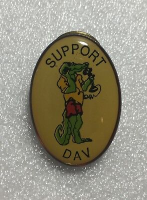 Support Dav Gator Lapel Hat Collectible Pin Vintage Disabled American Veterans