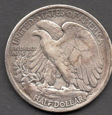 1917S Usa Silver Half-Dollar - Worn Condition - Walking Liberty