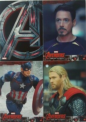 Marvel AVENGERS AGE OF ULTRON   Movie Trading Card Set of 90 Upperdeck