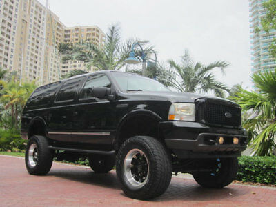 Ford Excursion Big Black Excursion Limited 4X4 Florida Big Black Lifted 2003 Ford Excursion Limited 4X4 V10 Very Nice Upgrades
