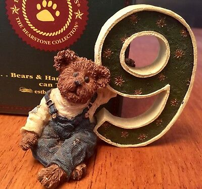 Boyds Bears New Age 9 Number B.h. Beanster Resin Child Gift With Box