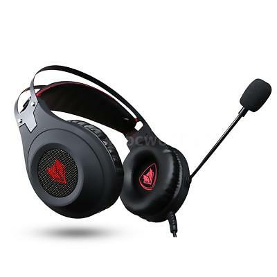 Pro Gaming Headset Surround Stereo Headband Headphone USB 3.5mm MIC for PC X1W1