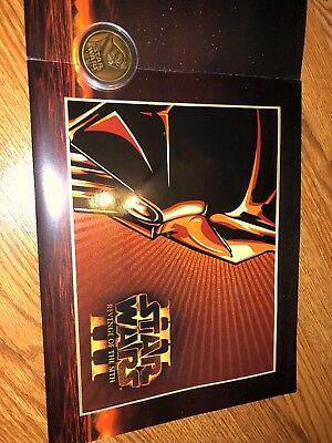 Star Wars Revenge of the Sith episode 3 Limited Edition Lithograph Medallion