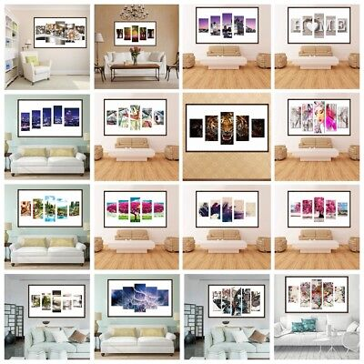 5D DIY Full Drill Diamond Painting 5-pictures Combination Xmas Gift Home Decor
