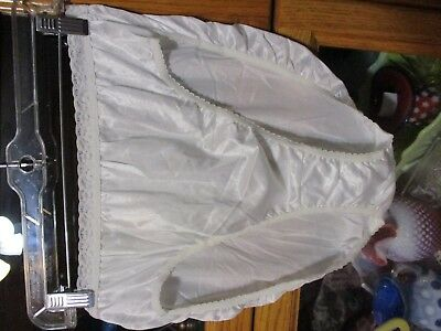 Vintage New Old Stock 100% Captiva Nylon  Panty Panties 10 Shiny White Hi Cut