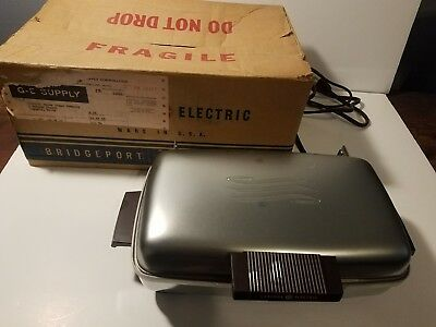 Vintage 1949 GENERAL ELECTRIC GE Sandwich Grill WAFFLE IRON Griddle