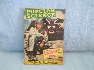 """POPULAR SCIENCE Magazine October 1943; War-time issue! """"Why We Can't Lose War"""""""