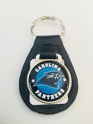 Carolina Panthers Retro Vintage Keychain Collectible Leather HIGH QUALITY NFL