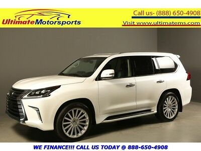 Lx 2017 Lx570 4X4 Nav Hud Marklev Dvd 8P Sunrf12K Mls 2017 Lexus Lx 570 Awd Nav Hud Dvd Sunroof Leather Blind 8Pass Pearl White