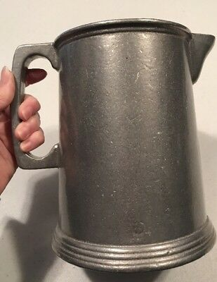 Vintage Large Metal Alloy Pitcher With Handle And Spout